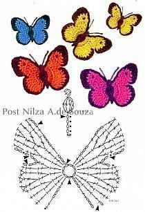 Crochet Mini Bead Flower String Tutorial-Video: How to crochet flower with bead? Flores Tejidas charts for Flox Carnations & Freesia Crochet Cherry Blossom It's Spring and around us Everything is becoming alive. Foto s van de muur van crochet 382 foto s Marque-pages Au Crochet, Beau Crochet, Crochet Puff Flower, Crochet Diagram, Crochet Chart, Crochet Dolls, Crochet Flowers, Borboleta Crochet, Crochet Butterfly Pattern