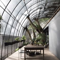 Divooe Zein Architects has installed an arched structure covered in nets to shelter a woodland glade near the Taiwanese capital, Taipei