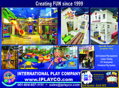 """International Play Company #Iplayco will be at the #IAAPA (IAAPA Attractions Expo) Orlando show, booth #4835. See our new product announcement and ask about our new """"My Town"""". Creating FUN since 1999. #WeBUILDfun #WeCREATEfun #CommercialPlayground #IAAPA #IAAPAorlando #IAAPA2015 #FECdevelopment #FamilyEntertainmentCenter #makingfunfunner #awesomeplaygrounds #kidsplay #indoorplaygrounds"""