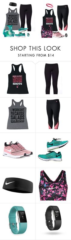 """""""Stay Healthy My Friends"""" by jnyaface on Polyvore featuring Kosher Casual, Fila, NIKE, Fitbit and plus size clothing"""