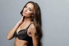 Taylor models JoeyBra's leopard print Fashion Bra