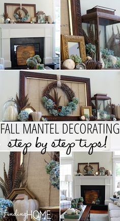 Fall Mantel Decorating Step by Step Tips Fall Mantel Decorating   Step by Step Tips