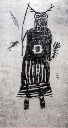 Rock Painting looks like a female shaman, S.E. Utah: