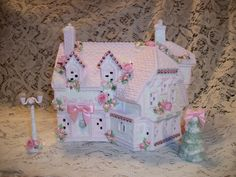 Lighted Shabby Chic Christmas Village House