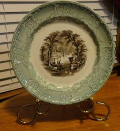 RARE 1840s Fine English China 2 Color Transferware Podmore Walker Co Pearl Stone Ware Venus Pattern by tennesseehills on Etsy, $90.00