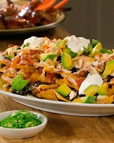 Chicken and Black Bean Nachos. Yum!
