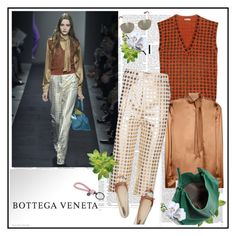 """Bottega Veneta at Milan Fashion Week Fall 2015"" by marthalux ❤ liked on Polyvore featuring Bottega Veneta and Victoria Beckham"