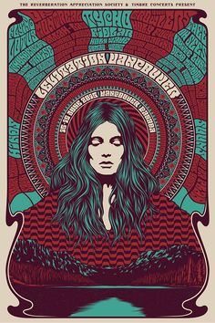 Simon Berndt's gig posters invoke psychedelic rock-era art Rock Posters, Band Posters, Concert Posters, Gig Poster, Film Posters, Art Hippie, Psychedelic Rock, Psychedelic Posters, Retro Art