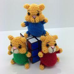 Lonemer Creations: Cheeky Chipmunks, #crochet, free pattern, amigurumi, hamster, stuffed toy, #haken, gratis patroon (Engels), hamster, knuffel, speelgoed, #haakpatroon