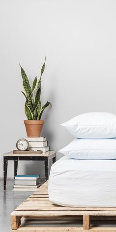 Powder bedding in Percale fabric | In Collaboration with Parachute Home