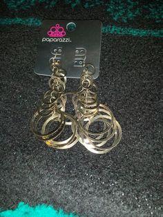 Gold circle earrings $ 5