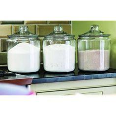 Anchor Hocking Glass Heritage Jar, 1 gal Image 3 of 5 Kitchen Organization Pantry, Kitchen Pantry, Kitchen Items, Kitchen Decor, Pantry Ideas, Kitchen Gadgets, Laundry Detergent Storage, Laundry Room Storage, Laundry Closet
