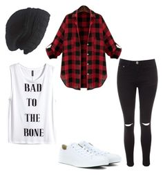 """Plaid"" by superhyperactive on Polyvore featuring Laundromat, Glamorous, H&M and Converse"