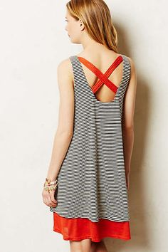 Anthropologie - Striped Duet Dress. Can't decide if I want this in grey motif or coral