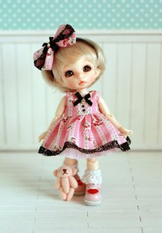 Pink Dress clothes Pukifee or Lati Yellow by sunnybobo on Etsy, $25.00