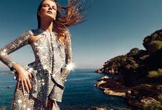 'Todo lo que brilla' - Eniko Mihalik fotografiada por Nico en el editorial 'La Costa Brava' para el número de junio de 2012 de Harper's Bazaar España