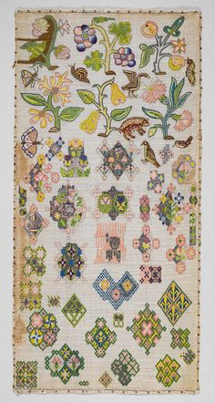 Spot sampler, mid-17th century English