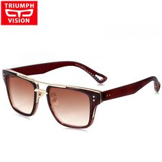 TRIUMPH VISION Driving Square Designer Male Sunglasses 2017 Unisex Gradien Lens Lunette Oculos Luxury Brand Sun Glasses For Men
