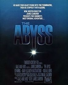 The Abyss   A 1989 science fiction film written and directed by James Cameron. It stars Ed Harris and Mary Elizabeth Mastrantonio.