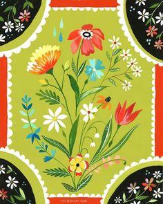 Flower Artwork by Katie Daisy (www.KatieDaisy.com)
