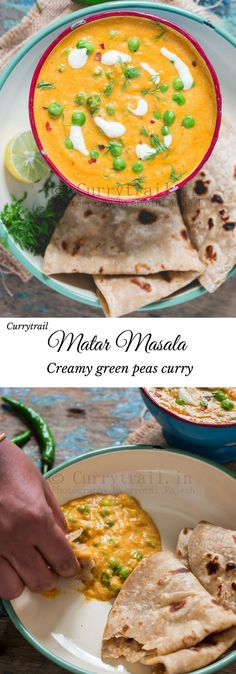 Matar Masala | Green Peas Masala Be it your weekday quick meal or your lazed out wide spread weekend dinner that you are planning, matar masala (peas masala) is a must. Delicious creamy vegan delight as I used cashew cream!