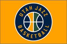 id:38410D9E5F971962806FBBD819660F3B00A640F1 | Utah Jazz Alternate on Dark Logo (2017) - Utah Jazz Secondary Logo on ...