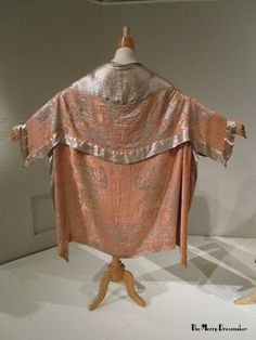 The Merry Dressmaker: Flapper Style at Kent State Museum of Fashion - Pink and lame silk brocade cape