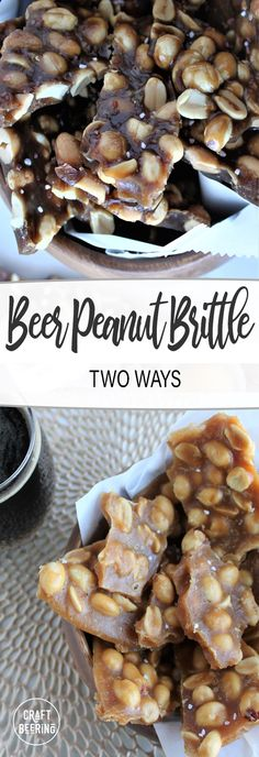 Beer peanut brittle two ways. Tips on beer styles that are most suitable. Choose between soft crack candy and hard crack candy. Beer Recipes, Cooking Recipes, Cooking With Beer, Beer Bread, Peanut Brittle, Recipe Boards, Christmas Projects, Spice Things Up, A Food