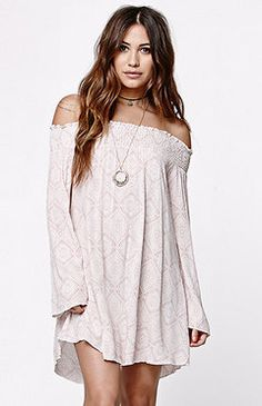 LA Hearts Bell Sleeved Smocked Dress at PacSun.com