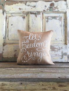 pillow cover u0027let freedom ringu0027 pillow 4th of july pillow july 4th patriotic pillow 4th of july decor summer decor porch decor