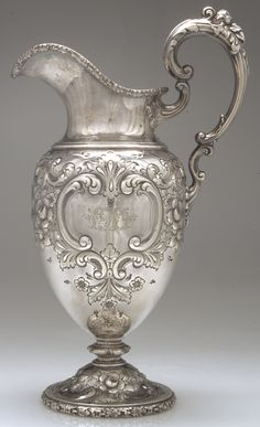 Antique sterling silver ewer / water pitcher from Reed & Barton.