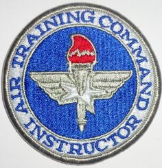 USAF AIR FORCE AIR TRAINING COMMAND ATC SHIELD PATCH VETERAN INSTRUCTOR