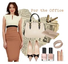 """Fashion ideas for the Office"" by walkinwardrobe ❤ liked on Polyvore featuring Bobbi Brown Cosmetics, Charlotte Tilbury, Christian Louboutin, Swarovski, Miu Miu, Ted Baker and Waterman"