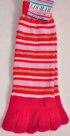 Womens Red/pink Stripe Toesock By Lis-mar by Lis-Mar. $3.00. Womens Red/pink Stripe Toesock By Lis-mar.