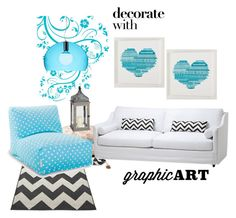 """""""Graphic"""" by marygio96 ❤ liked on Polyvore featuring interior, interiors, interior design, home, home decor, interior decorating, Eichholtz, PBteen, Kartell and Dot & Bo"""