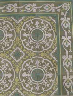 Cuban Heritage Cement Tiles CH140-3B    luxtile.com
