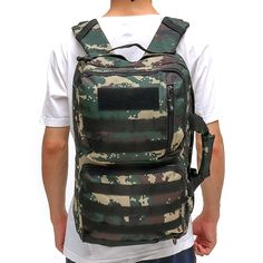 74cb409411 50L Outdoor Tactical Army Backpack Rucksack Waterproof Camping Hiking  Travel Bag Sale
