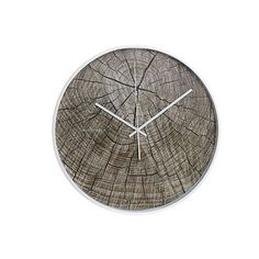 Structure Wood Wanduhr