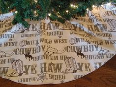 Western Christmas Tree Skirt Country Western by KaysGeneralStore, $65.00