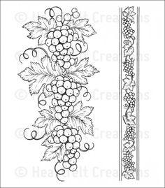 Grapevine Corner Stencil Card Craft Quilting Airbrush Tattoo Free Post