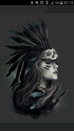 Indian head dress tattoo idea