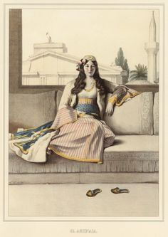 Ottoman woman from Athens by Louis Dupré, 1820 Monuments, Magnified Images, Empire Ottoman, Arabic Art, Portraits, Midsummer Nights Dream, Vintage Couture, Modern History, Beauty