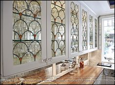 KAGADATO. Stained glass in the kitchen - . Design and production of stained glass in the technique Tiffany. From sketch to be installed in the object. A distinctive feature of my stained glass is: - Uneven and very voluminous metal seam (the aesthetics of artistic forging); - I use sharp-textured patterned glass (mostly domestic glass); - Do not use standard stained glass;