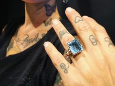 Our beautiful Square Gem ring set with a Blue Topaz Keep an eye out for more rings of this style from us on the horizon! #TheGreatFrog @thegreatfrogldn @thegreatfrognyc