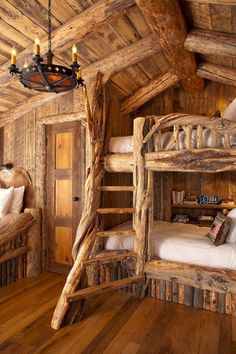 awesome 27 Creative Log Cabin Themed Bedroom for Kids https://godiygo.com/2017/12/12/27-creative-log-cabin-themed-bedroom-kids/