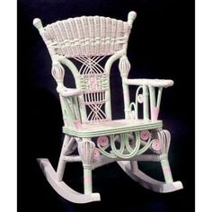 Wicker for a baby princess more rocking chairs millie wicker childs