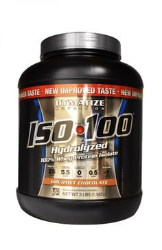 Dymatize Nutrition ISO 100 Whey Protein Powder - Gourmet Chocolate, 3 Lbs