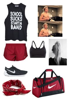 """""""Style #8 Gym W/ Ashton Irwin"""" by hulksmashlol ❤ liked on Polyvore featuring High Heels Suicide, NIKE, Under Armour and ASOS"""