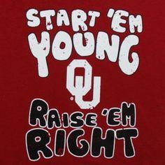 Oklahoma Sooners Infant Start 'Em Young T-Shirt - Crimson Texas Tech Baby, Oklahoma Sooners Football, College Football Teams, Texas Tech University, Boomer Sooner, Texas Tech Red Raiders, Raider Nation, Alma Mater, Ems