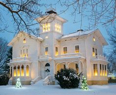 Steampunk Tendencies | Snowy Victorian Houses